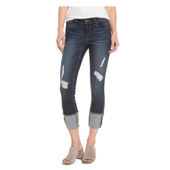 1822 Denim Denim - 1822 Denim distressed roll cuff jeans